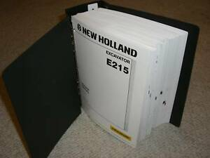 New Holland E215 Excavator Service Shop Manual