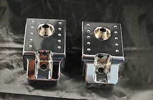 Fierce Chrome Billet Aluminium Rear Tow Hooks Covers For Hummer H2 Suv