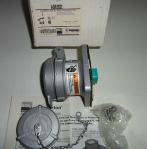 Appleton Adr3022 Pin sleeve 30a Receptacle 2w2p New