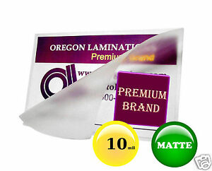 10 Mil Matte Hot Laminating Pouches 12x18 Menu Size 12 X 18 50 For 11x17 Sheet