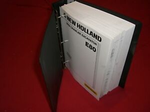 New Holland E80 Midi Crawler Excavator Repair Manual