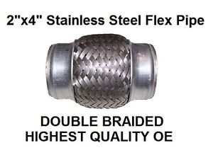 Exhaust Pipe Flexible Repair All Make Models 2 Inch Stainless Steel 100