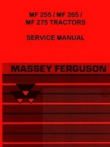 Massey Ferguson Mf 255 265 275 Tractor Service Manual