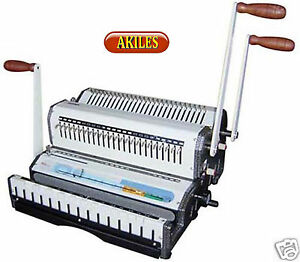 Akiles Wiremac combo 21 Binding Machine Punch 2 1 Wire Combs Spiral o new