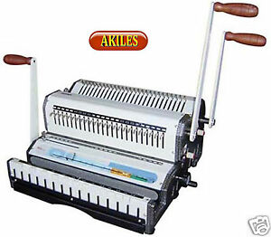 Akiles Wiremac combo 31 Binding Machine Punch 3 1 Wire Combs Spiral o new