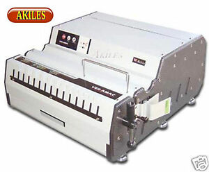 Akiles Versamac Electric Paper Punch Includes Choice Of Die 14 Heavy Duty new