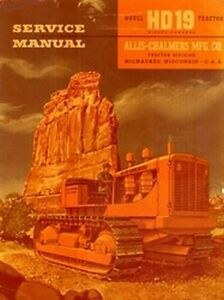 Allis Chalmers Hd19 Hd 19 Crawler Service Manual Ac