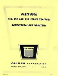 Oliver 950 990 995 Tractor Parts Book Manual List Ol