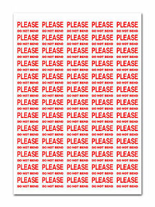 650 Please Do Not Bend Small Labels Stickers