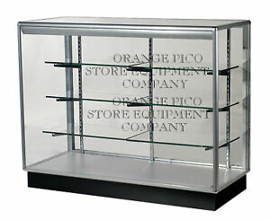 Fully Assembled 4 Extra Vision Aluminum Frame Display Showcase