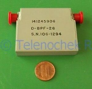 Rf If Microwave Bandpass Filter 1 9 6 2 Ghz Bpf 4 05 Ghz Cf 4 3 Ghz Bw Data