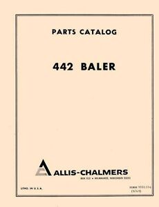Allis Chalmers 442 Baler Parts Manual