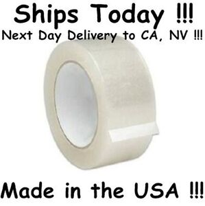 18 Roll 2 Clear Packing Shipping Box Tape 2mil 110yd