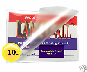 1000 Pc Lam it all 10 Mil Hot Business Card Laminating Pouches 2 1 4 X 3 3 4