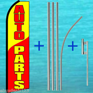 Auto Parts Swooper Flag Pole Mount Kit Advertising Sign Feather Flutter Banner