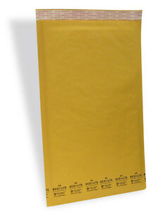 100 6 12 5x19 Kraft Ecolite Bubble Mailers Padded Envelopesl 12 5 X 19 50 2