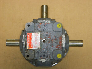 Boston Gear 3 Way R1216 Type K Right Angle Drive Speed Reducer Gearbox Ratio 1 1