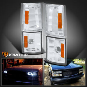 For 94 98 Gmc Sierra C K Turn Signal Corner Lights Lamps Clear Amber Left Right