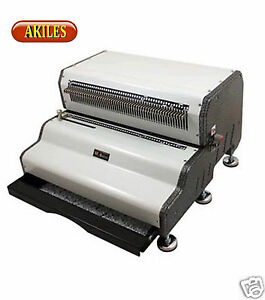 Akiles Coilmac ecp Coil Binding Machine Electric Punch 4 1 Oval Holes new