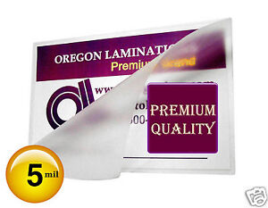 2500 Hot 5 Mil Business Card Laminating Pouches 2 1 4 X 3 3 4 Clear