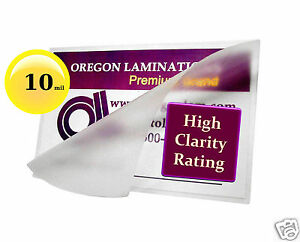 1000 Hot 10 Mil Business Card Laminating Pouches 2 1 4 X 3 3 4 Clear