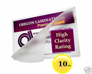 Hot Laminating Pouches 2 3 8 X 3 5 8 Driver s License pk Of 500 10 Mil Clear