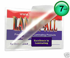 Lam it all Laminating Pouches 2 1 4 X 3 3 4 bx Of 1000 Business Card 7 Mil Hot