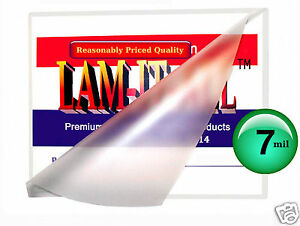 Lam it all Hot Laminating Pouches 11 1 2 X 17 1 2 Small Menu pk Of 100 7 Mil