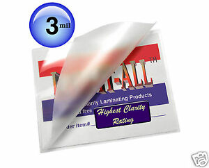 Lam it all Hot Laminating Pouches 12 X 18 inch Menu case Of 500 Clear 3 Mil