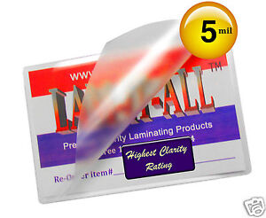 Lam it all Hot Laminating Pouches 12 X 18 inch Menu pk Of 200 Clear 5 Mil