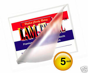 Lam it all 5 Mil Hot 12x18 Menu Laminating Pouches 12 X 18 100 For 11x17 Sheet