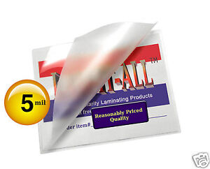 200 Pc Hot 5 Mil Legal 9 X 14 1 2 Lam it all Laminating Pouches For 8 5 X 14