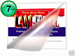 200 Pc Hot 7 Mil Legal Lam it all Laminating Pouches 9 X 14 1 2 Clear 14 5