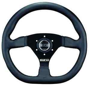 Sparco Street Steering Wheel Ring 330mm W Flat Bottom Leather Black