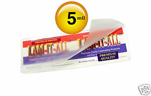 Lam it all Hot Laminating Pouches 2 1 2 X 7 3 4 inch Bookmark pk Of 500 5 Mil