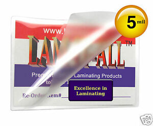 Lam it all Hot Laminating Pouches 8 3 4 X 11 1 4 Mini Letter pk Of 100 5 Mil