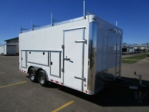 2019 Bravo 8 5x16 Commercial Series Enclosed Contractors Trailer