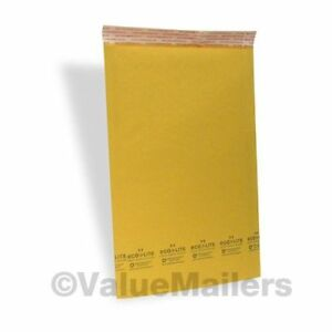 500 3 8 5x14 5 Kraft Usa Bubble Mailers Padded Envelopes Mailer Bags Ecolite