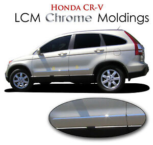4pc Lcm Abs Chrome Body Side Moldings Lcm crv 156 Fits 2010 2011 Honda Cr v