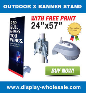 Outdoor X Banner Stand 24 X 57 Print