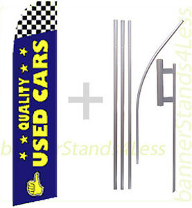 Quality Used Cars Feather Flutter Swooper Banner Sign 15 Flag Kit Bf