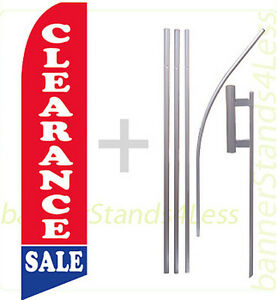 Clearance Sale Swooper Flag Kit Feather Flutter Banner Sign 15 Tall B