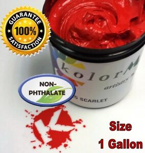 Gen Opaque Scarlet Premium Plastisol Ink Screen Printing Non Phthalate Gallon