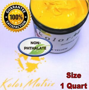 Gen Opaque Yellow Premium Plastisol Screen Printing Ink Non Phthalate Quart