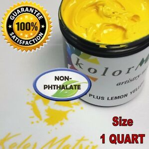Super Opaque Lemon Yellow Plastisol Screenprint Ink Non Phthalate quart