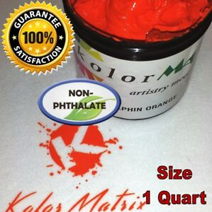Super Opaque Dolphin Orange Plastisol Non Phthalate Screenprint Ink Quart