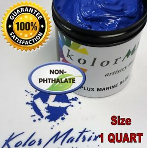 Super Opaque Marine Blue Plastisol Screenprint Ink Non Phthalate Quart