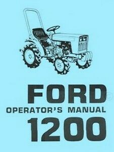 Ford 1200 Tractor Owners Operators Manual Fd