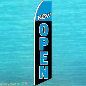 Now Open Flutter Flag Tall Advertising Sign Feather Swooper Banner Flag 25 1203