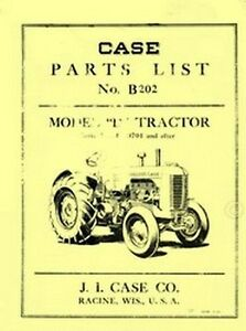 Case Early Model D Dc Di Do Tractor Parts Catalog Manual Serial 4300701 4402685